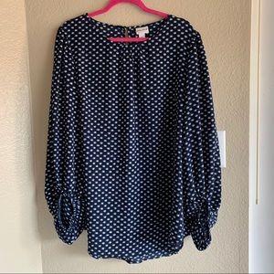 Printed longsleeve blouse